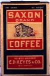 Saxon Brand Coffee (cardboard)